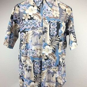 Reyn Spooner Aloha Hawaiian Shirt Size L Floral
